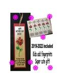 Mothers day bookmark present preschool flower fingerprint mom art