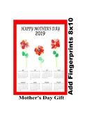 Mothers day calendar art project add flower fingerprints g