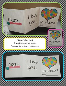 Mother's day card - Love you to Pieces