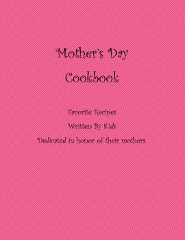 Mothers day cookbook