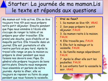 Mother's day in French PPT for beginners