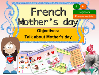 Mother's day in French for beginners NO PREP