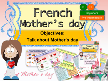 Mother's day in French full lesson for beginners NO PREP