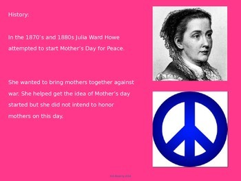 Mothers day power point - history facts pictures activities