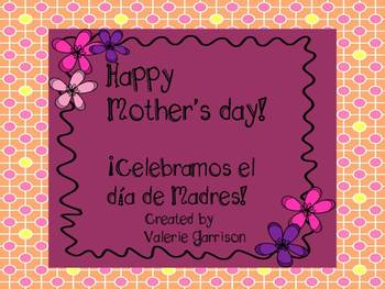 Mother's day writing prompt in English and Spanish {Freebie}