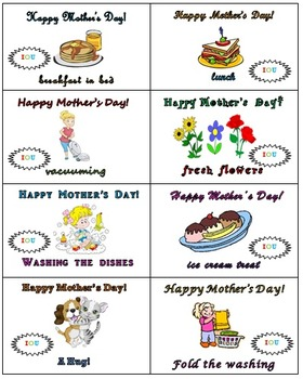Mother'sDay Card, Books and Coupons
