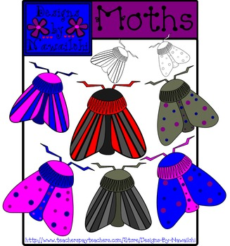 Moth Clip Art {Designs By Nawailohi}