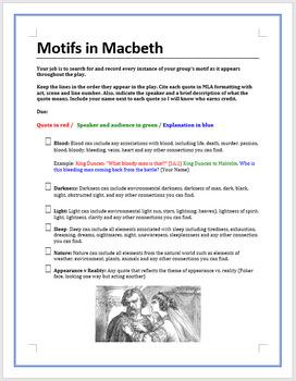 Motifs in Macbeth - group project