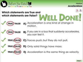 Motion: Acceleration - MAC Gr. 5-8