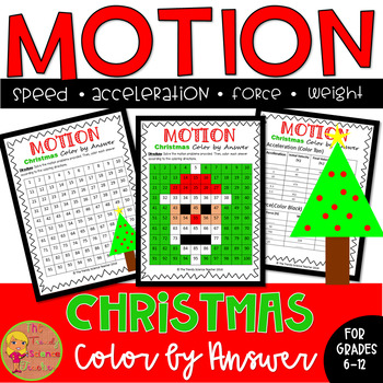 Motion: Christmas Color by Number worksheet