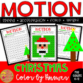 Force and Motion:Christmas Color by Number worksheet