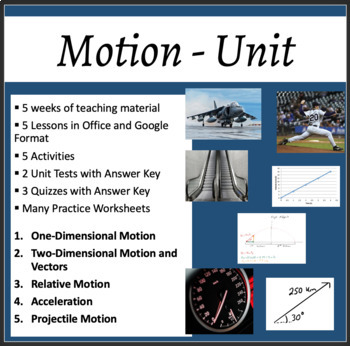 Motion Complete Unit - PowerPoint Lessons, Worksheets & Assessments