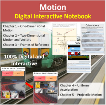 Motion - Digital Interactive Notebook