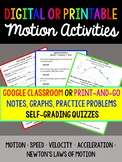Motion *Digital for Google Classroom or Printable* Notes,P