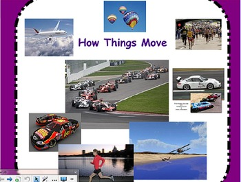 Motion, Distance and Speed SMART board Activity