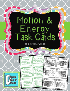 Motion & Forces Task Cards