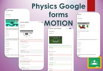 Motion Google forms. Self marking GCSE Physics