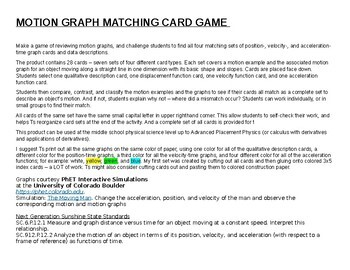 Motion Graph Matching Card Game