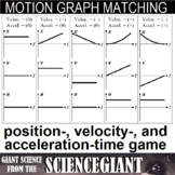 Kinematics Motion Graph Matching Card Game
