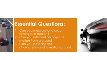 Motion Graphing - Supplemental Lesson - No Lab