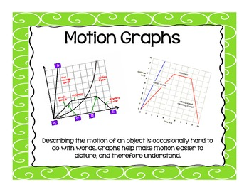 Motion Graphs - 5th Grade Force and Motion Unit