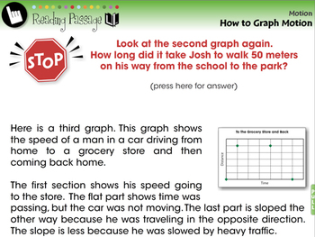 Motion: How to Graph Motion - NOTEBOOK Gr. 5-8