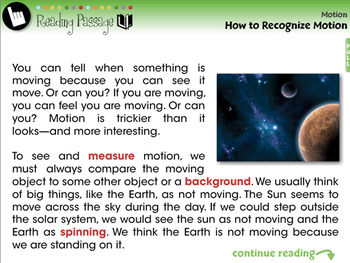 Motion: How to Recognize Motion - NOTEBOOK Gr. 5-8
