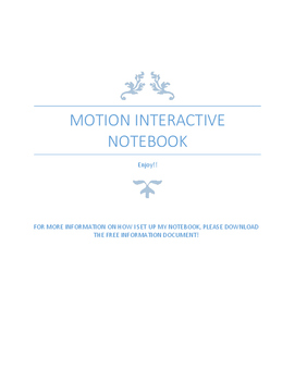 Motion Interactive Notebook