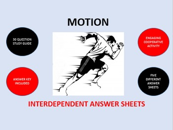 Motion: Interdependent Answer Sheets Activity