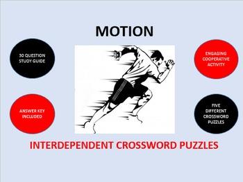 Motion: Interdependent Crossword Puzzles Activity