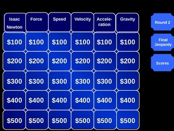 Motion Jeopardy
