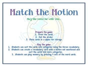 Motion Matching- Spanish and English