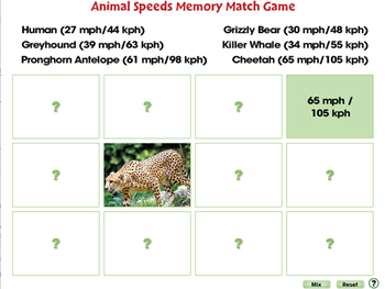 Motion: Memory Match Game - PC Gr. 5-8