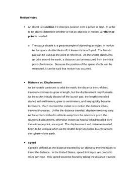 Motion Physics Notes