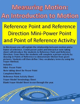 Motion: Point of Reference and Reference Direction