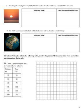 Motion, Speed, & Acceleration Practice Problems
