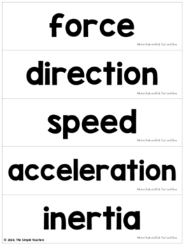 Motion Push and Pull, Fast and Slow - Summarize New Information Comprehension