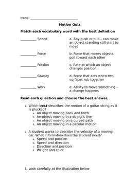 Motion Quiz