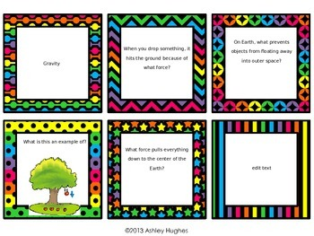 Motion Review Task Cards