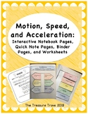 Motion, Speed, & Acceleration Interactive Notebook Foldabl