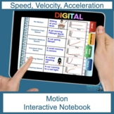 Motion (Speed, acceleration, Graphs) Digital Flip Book