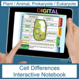 Cell Differences (prokaryote, eukaryote, plant, and animal)  Digital Flip Book
