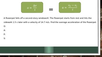 Motion - Speed and Acceleration Powerpoint