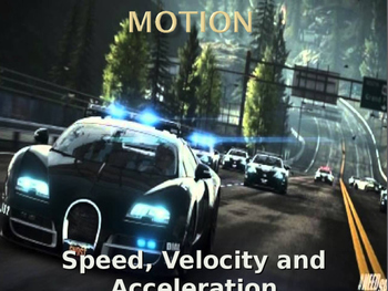 Motion:Speed, Velocity and Acceleration