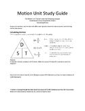 Motion Study Guide