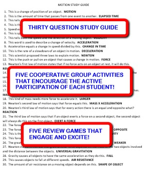Motion: Study Guide and Activity Pack