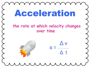 Motion Super Pack: Speed, Velocity, and Acceleration