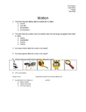 Factors Affecting Motion: Kinetic/Potential Energy, Gravity, Friction Worksheet