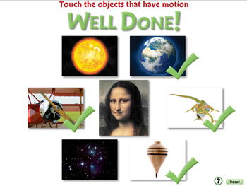 Motion: Touch the Objects That Have Motion - PC Gr. 5-8