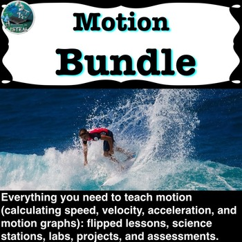 Motion Unit Bundle (covers: speed, velocity, acceleration, and motion graphs)